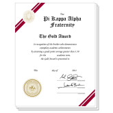 Gold Personalized Fraternity Scholarship Award-