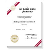 Distinguished Personalized Certificate-