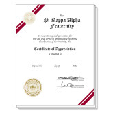 Appreciation Personalized Certificate-