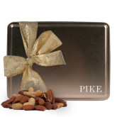 Deluxe Nut Medley Gold Large Tin-PIKE Engraved