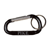 Black Carabiner with Split Ring-PIKE Engraved