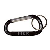 Black Carabiner with Split Ring-PIKE Engraved
