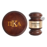 Personalized Gavel & Sound Block Set-Official Greek Letters Engraved