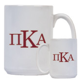 Full Color White Mug 15oz-Official Greek Letters