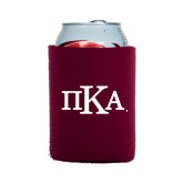 Collapsible Maroon Can Holder-Official Greek Letters