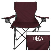 Deluxe Maroon Captains Chair-Official Greek Letters