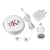 3 in 1 White Audio Travel Kit-Official Greek Letters