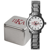 Mens Stainless Steel Fashion Watch-Official Greek Letters