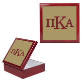Red Mahogany Accessory Box With 6 x 6 Tile-Official Greek Letters