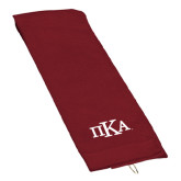 Maroon Golf Towel-Official Greek Letters