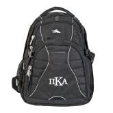 High Sierra Swerve Black Compu Backpack-Official Greek Letters