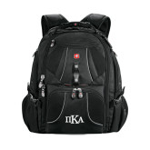 Wenger Swiss Army Mega Black Compu Backpack-Official Greek Letters