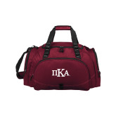 Challenger Team Maroon Sport Bag-Official Greek Letters