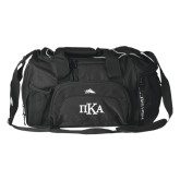 High Sierra Black Switch Blade Duffel-Official Greek Letters