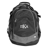 High Sierra Black Fat Boy Day Pack-Official Greek Letters
