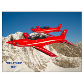 24 x 18 Poster-PC-21 2 Aircrafts Over Snow Cliffs