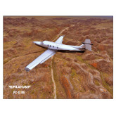 24 x 18 Poster-PC-12 NG Over Brown Fold Mtns