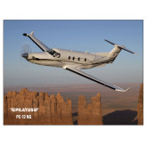 24 x 18 Poster-PC-12 NG Over Block Mtns