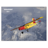 24 x 18 Poster Mounted to Foam Core-PC-6 Over Snowy Mountains