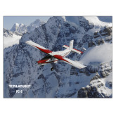 24 x 18 Poster Mounted to Foam Core-PC-6 Over Snowy Cliff