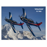 24 x 18 Poster Mounted to Foam Core-PC-7 MKIIs over Snow Cliffs