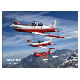 24 x 18 Poster Mounted to Foam Core-PC-7 MKII 3 Aircrafts