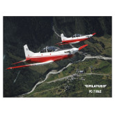 24 x 18 Poster Mounted to Foam Core-PC-7 MKII 2 Aircrafts Over Green Terrain