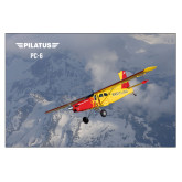 24 x 36 Poster-PC-6 Over Snowy Mountains