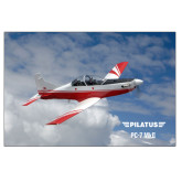 24 x 36 Poster-PC-7 MKII Over Clouds