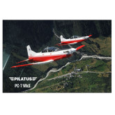 24 x 36 Poster-PC-7 MKII 2 Aircrafts Over Green Terrain