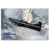 24 x 36 Poster-PC-9 M Over Mtn Terrain