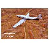 24 x 36 Poster-PC-12 NG Over Brown Fold Mtns