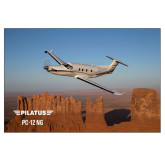 24 x 36 Poster-PC-12 NG Over Block Mtns