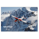 24 x 36 Poster Mounted to Foam Core-PC-6 Over Snowy Cliff