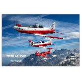 24 x 36 Poster Mounted to Foam Core-PC-7 MKII 3 Aircrafts