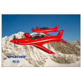 24 x 36 Poster Mounted to Foam Core-PC-21 2 Aircrafts Over Snow Cliffs