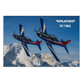 5 x 7 Photographic Print-PC-7 MKIIs over Snow Cliffs