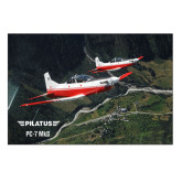 5 x 7 Photographic Print-PC-7 MKII 2 Aircrafts Over Green Terrain