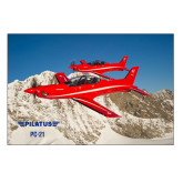 5 x 7 Photographic Print-PC-21 2 Aircrafts Over Snow Cliffs