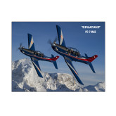 8 x 10 Photographic Print-PC-7 MKIIs over Snow Cliffs