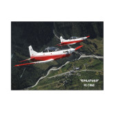 8 x 10 Photographic Print-PC-7 MKII 2 Aircrafts Over Green Terrain