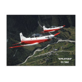 11 x 14 Photographic Print-PC-7 MKII 2 Aircrafts Over Green Terrain