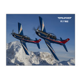 11 x 17 Photographic Print-PC-7 MKIIs over Snow Cliffs