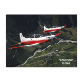 11 x 17 Photographic Print-PC-7 MKII 2 Aircrafts Over Green Terrain