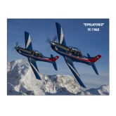 15 x 20 Photographic Print-PC-7 MKIIs over Snow Cliffs
