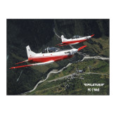 15 x 20 Photographic Print-PC-7 MKII 2 Aircrafts Over Green Terrain