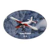 Large Decal-PC-6 Over Snowy Cliff