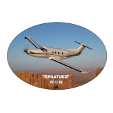 Large Decal-PC-12 NG Over Block Mtns
