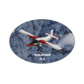 Small Decal-PC-6 Over Snowy Cliff