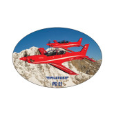 Small Decal-PC-21 2 Aircrafts Over Snow Cliffs